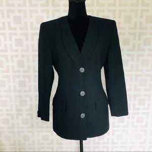 Christian Dior Vintage Black Blazer Jacket 4